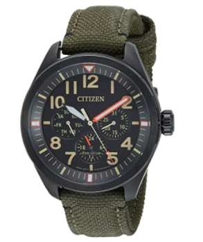 Reloj casual de acero inoxidable y nylon de cuarzo Citizen 'Military'