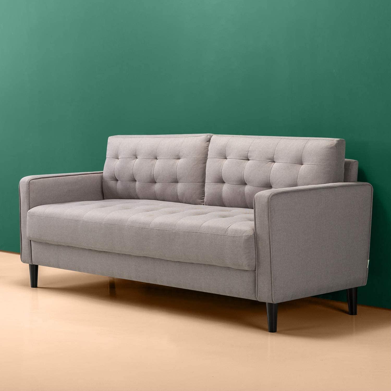 Zinus Benton, sofá, gris piedra